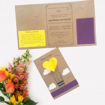 Invitacion Matrimonio globo